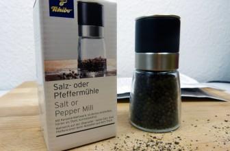 Salz- oder Pfeffermühle im Test (Tchibo / TCM)